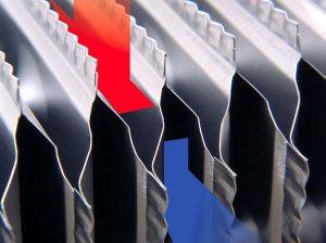 Metalinis rekuperatoriaus šilumokaitis